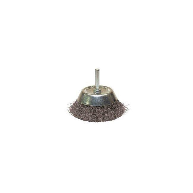brosse boisseau sur tige pour perceuse avec fil acier. Black Bedroom Furniture Sets. Home Design Ideas