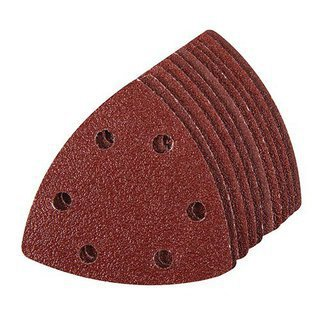 10 x feuille abrasive ponceuse triangulaire 90 mm