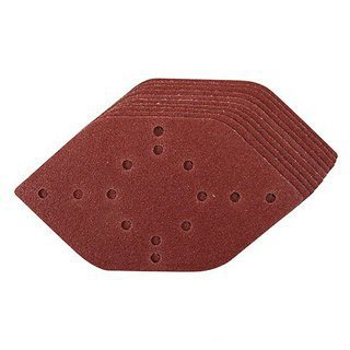 10 x feuille abrasive ponceuse hexagonale