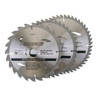 3 x lame scie circulaire 205 x 30 mm